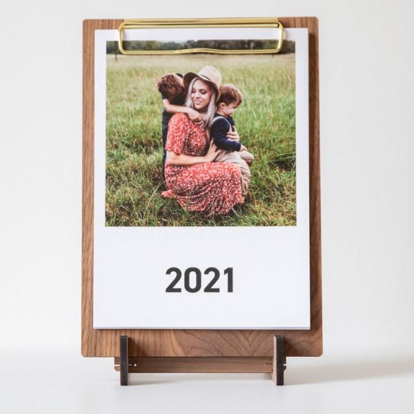 Clipboard Kalender - DIN A5, Nussbaum