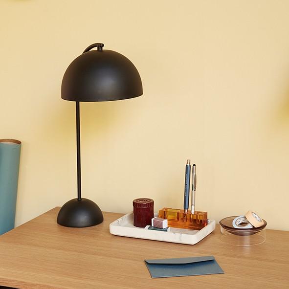 Schreibtischorganizer - Glas, bernsteinfarben