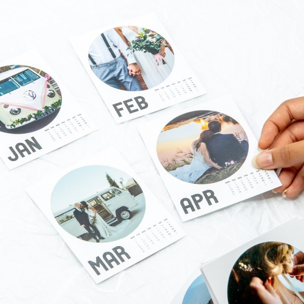Retropix Kalender Rund