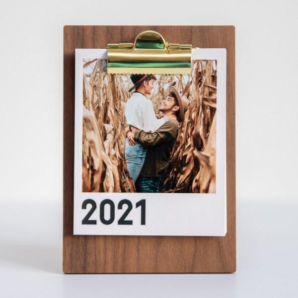 Polaroid Bilder Kalender mit Clipboard - 9x11 cm