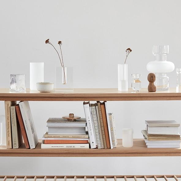 Designervase - U-Form, Glas, klar
