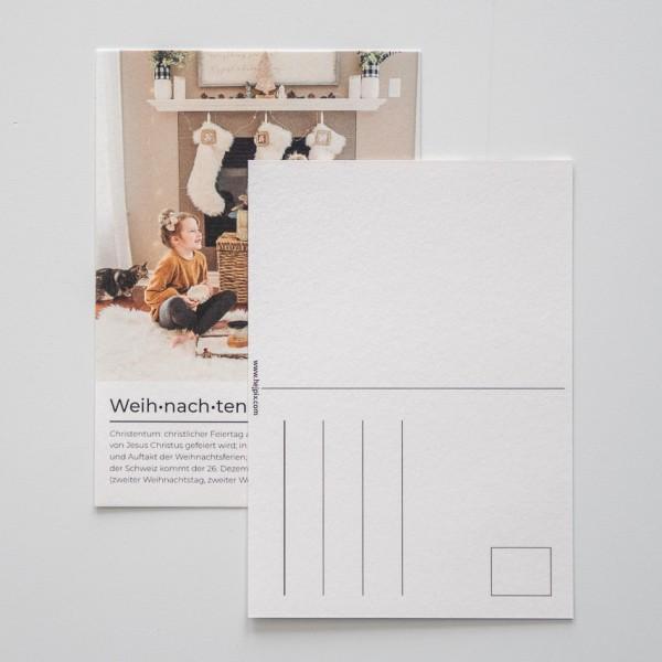 Postkarte Weihnachten - DIN A6 hoch, 1 Bild