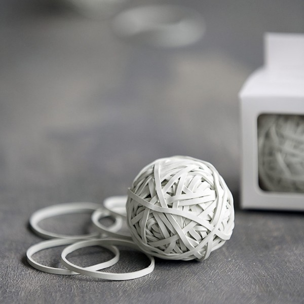 Gummiband Ball - weiß