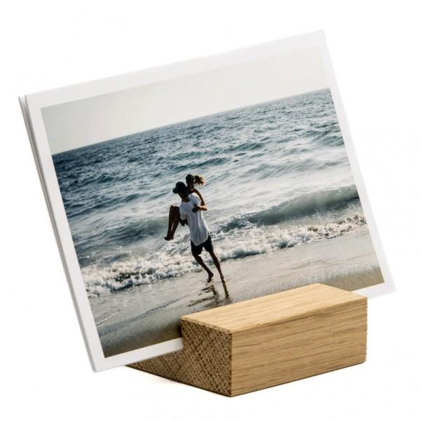 Fotoaufsteller - Holz (Eiche), für bis zu 12 Fotos