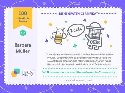 1 zertifikat bienenpatenschaft c hektarnektar