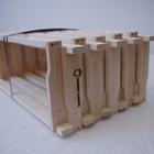 10 Rähmchen - Dadant US Honigraum, Hoffmann-Seiten. 482x448x141mm. Nr: 1042