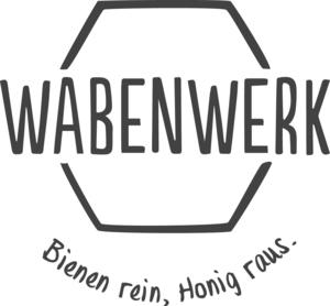 Logo wabenwerk grau 1c claim klein