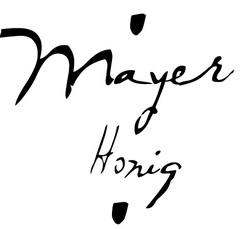 Mayer logo geschnitten
