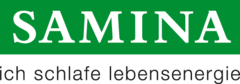 Samina logo mit claim