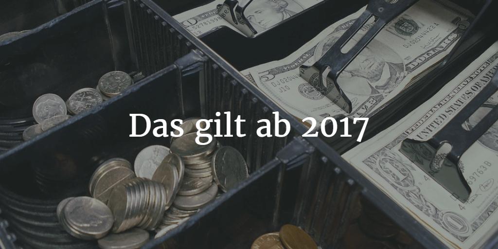 Registrierkasse ab 2017