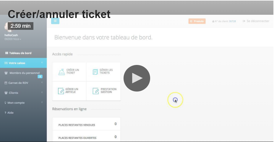 creer un ticket image
