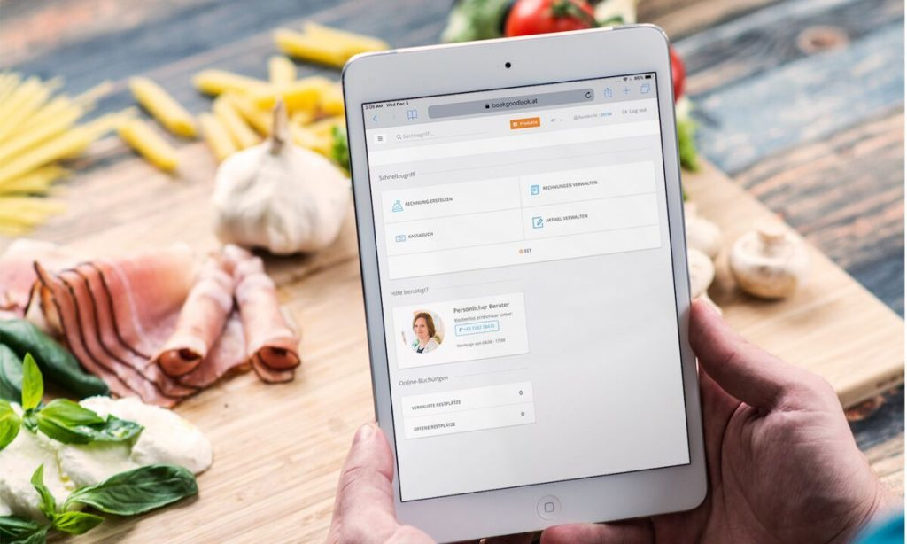 tablet, kassa. gastronomie, gastro, bar, restaurant