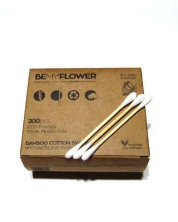 Μπατονέτες από μπαμπού & βαμβάκι BeMyFLOWER - 200 τεμ.