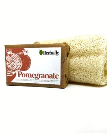 Χειροποίητο σαπούνι με ρόδι + σφουγγάρι λούφας