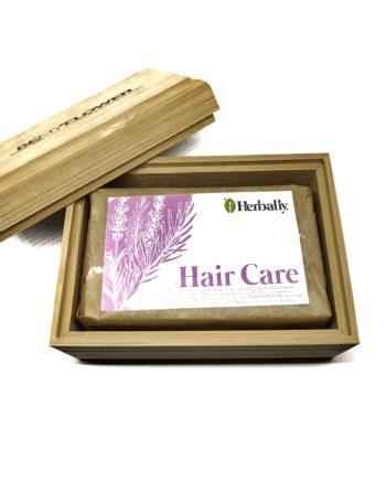 Θήκη σαπουνιού μπαμπού + σαπούνι μαλλιών