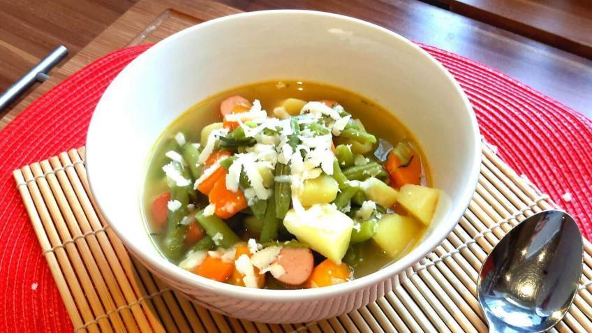 Bunte-Bohnensuppe