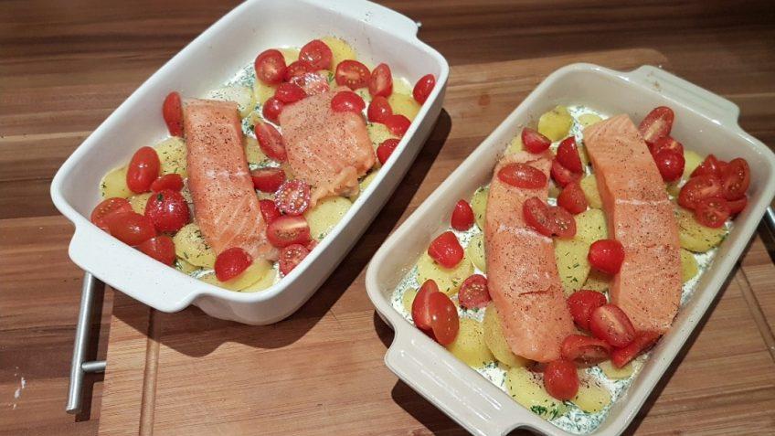 Lachs-Kartoffelgratin