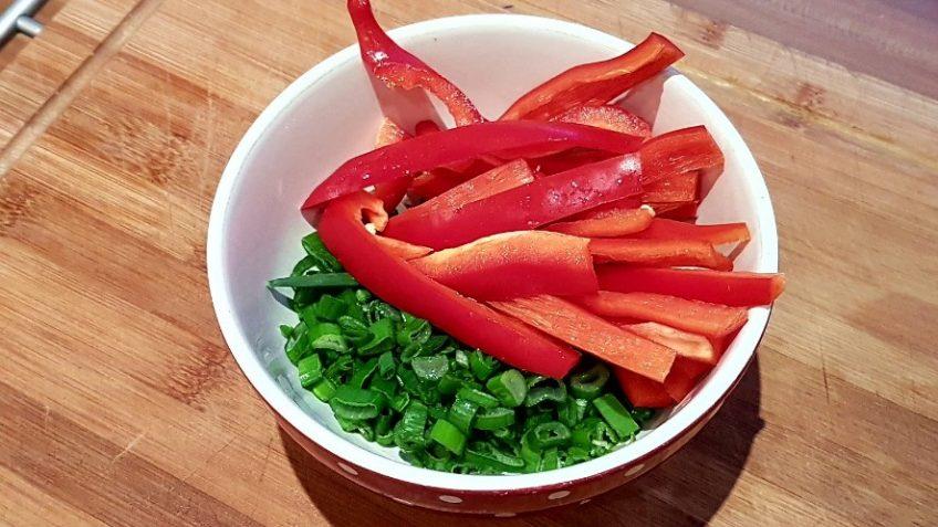 Flammkuchen-Belag-Gemüse