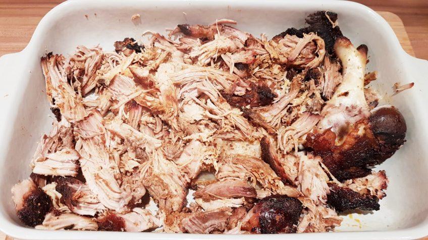 Pulled-Pork-gezupfte-Fleischfasern