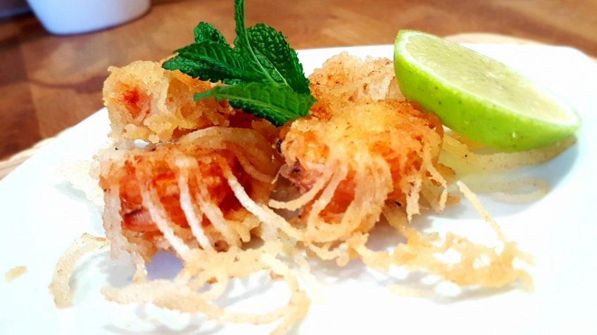 Frittierte-Garnelen-in-mariniertem-Reisnudelmantel