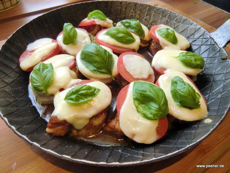 Schweinefilet mit Tomate-Mozzarella