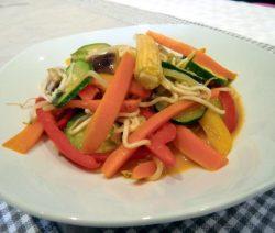 Wok-Gemüse mit Kokosmilch