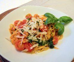 Spaghetti mit Garnelen und Ruccola