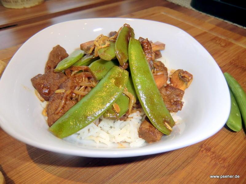 Rindfleisch mit Mungobohnensprösslingen