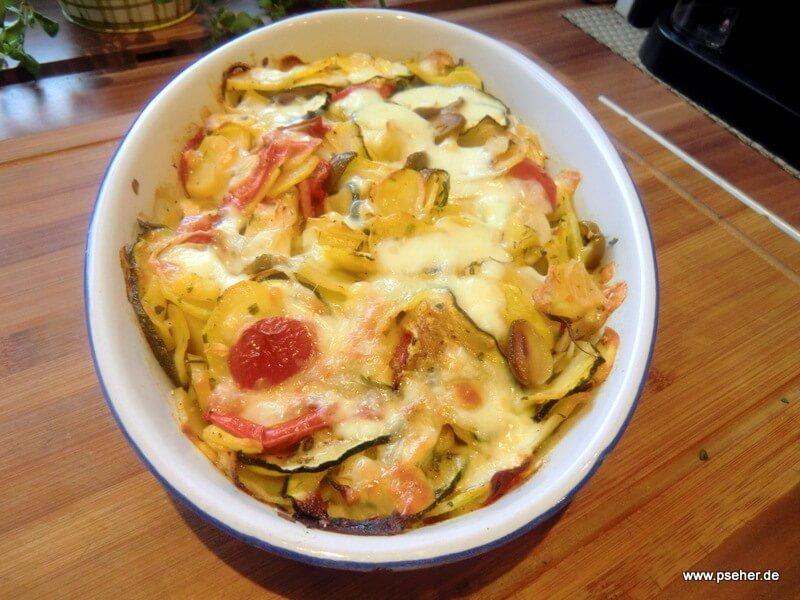 Zucchini-Kartoffel Gratin