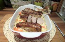 Schweinefilet auf Möhrengemüse