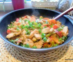 Gemüsepfanne aus dem Wok