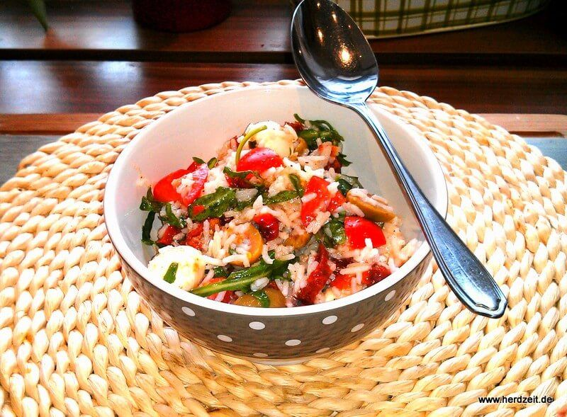 Italienischer Reissalat – eine leichte Mahlzeit einfach zubereitet