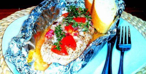 Fischfilet in Alufolie