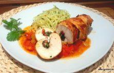 Gefüllte Hühnerbrustfilets mit Spinat