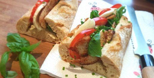 Hühnerbaguette Tomate Mozarella