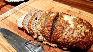 Hackbraten nach 60 Minuten bei 200 Grad im Ofen