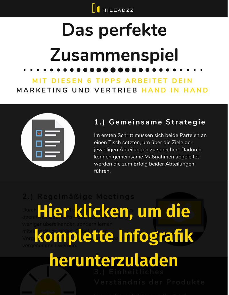 Banner zum downloaden der Infografik: Zusammenspiel von Marketing und Vertrieb