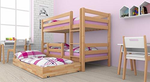 Etagenbett Mit Bettkasten : Kinderbett hochbett mit bettkasten und real