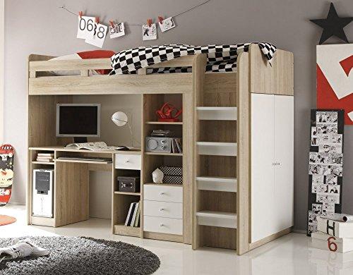 Etagenbett Mit Schrank Und Schreibtisch : Bega kinderbett hochbett mit kleiderschrank und schreibtisch