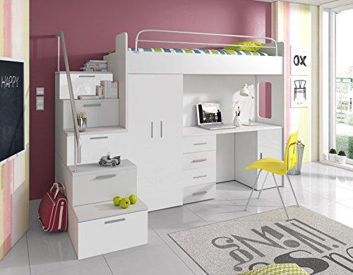 hochbett f r kinder kinderhochbett mit treppe. Black Bedroom Furniture Sets. Home Design Ideas