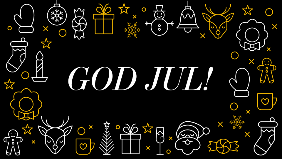 God jul från oss alla!