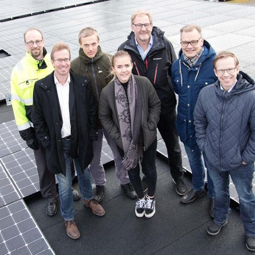 Egen solcellsanläggningförsta steget i Holtabs miljövision