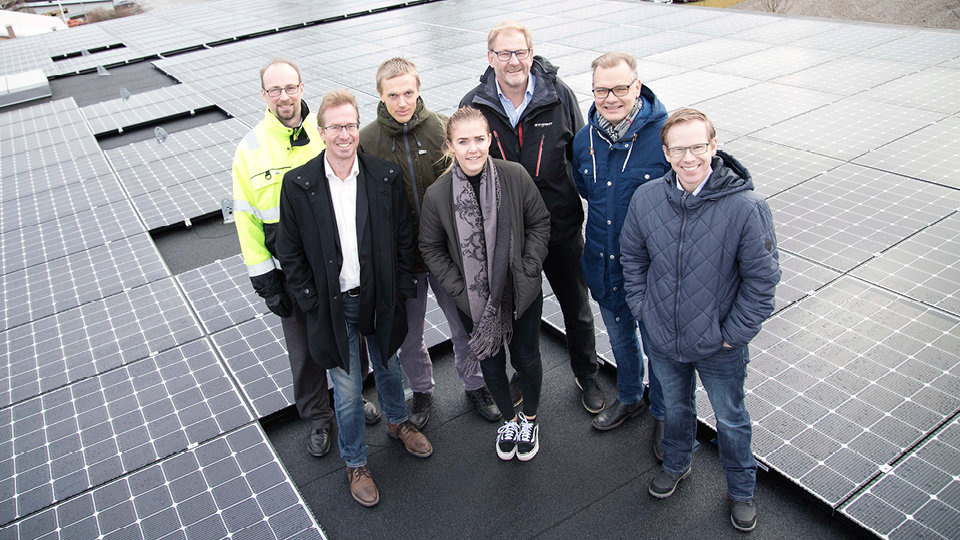 Solar cell installation a first step towards Holtab´s green vision
