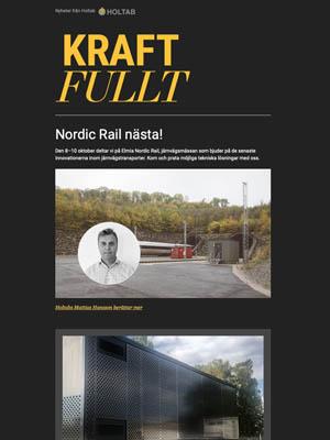 Hösten 2019<br>Holtab del av Lunds spårvagnssatsning – Nordic Rail nästa
