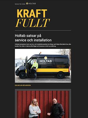 Våren 2019<br>Holtab startar ny serviceavdelning – här berättar vi mer