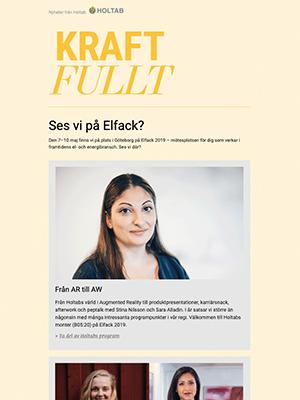 Våren 2019<br>Från AR till AW – Vårt program för Elfack 2019