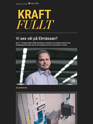 Hösten 2018<br>Varsågod, din digitala biljett till Elmässan + Nyheter från Holtab