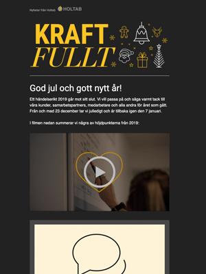 Vinter 2019 <br> Holtab önskar God Jul <br> Året som gått