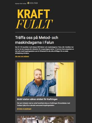 Våren 2018<br>Träffa oss på Metod- och maskindagarna i Falun
