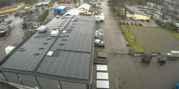 Strålande start för Holtabs solceller